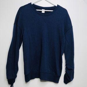 Old Navy Active Navy Blue Sweatshirt Cinched M